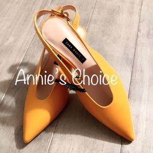 ZARA Heels:Yellow, US 6.5, 7.5/EUR 37, 38